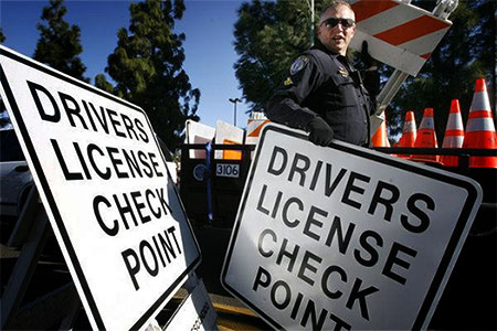 Drivers license checkpoint