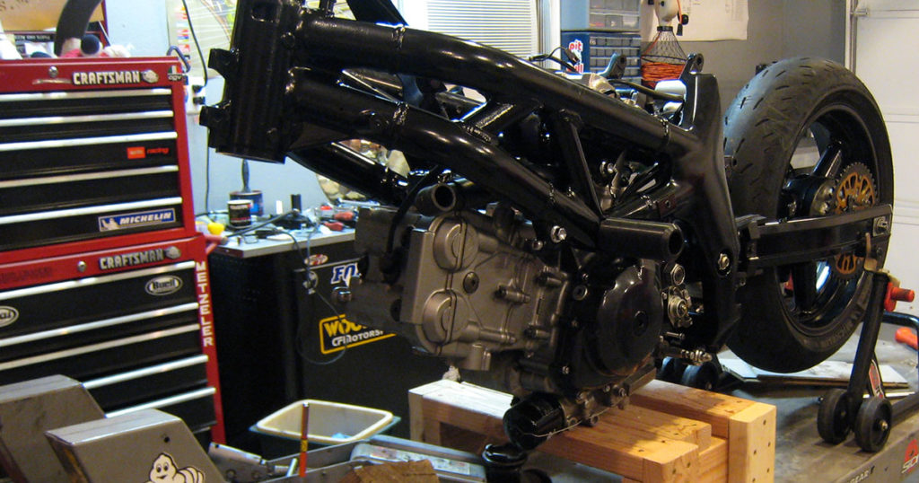 Army Green SV650 Motor Swap