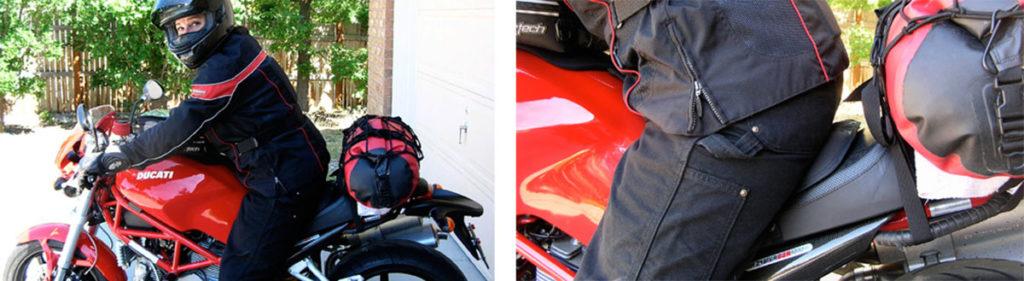 Skwoosh gel motorcycle seat pad