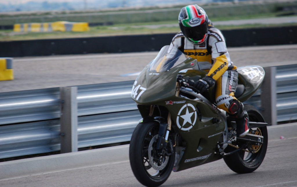 Army Green Suzuki SV650 Continental Race Attack Street Tire Review