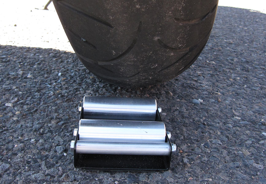 Wheel Jockey being used with a 180 width rear tire