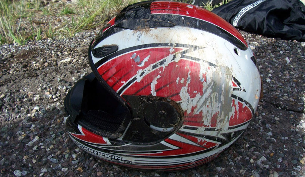 Scorpion EXO-700 Motorcycle Helmet Crash Test