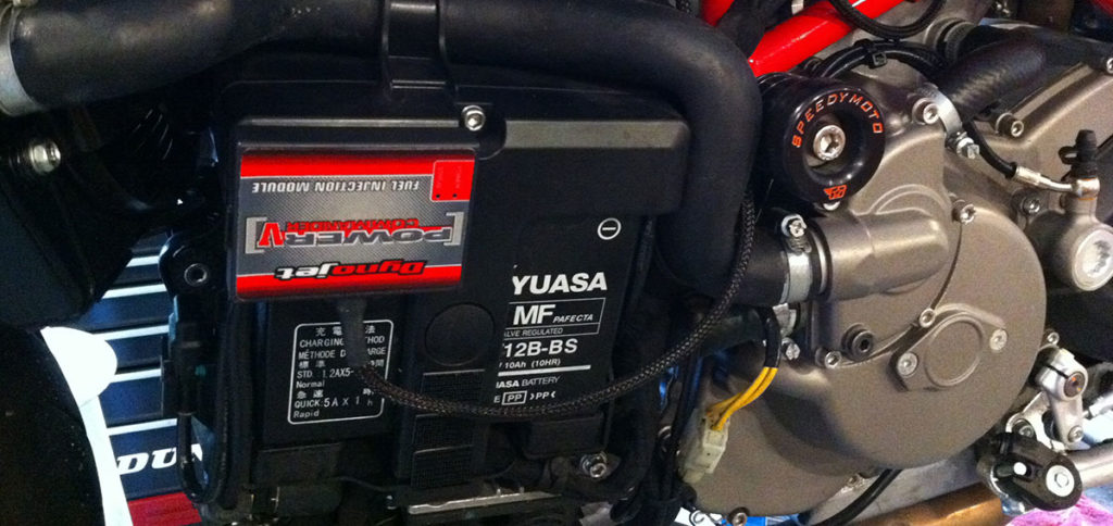 Ducati 848 DynoJet Power COmmander V Installation Location