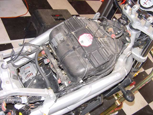 Triumph 955i Valve Adjustment Tip and Tricks airbox