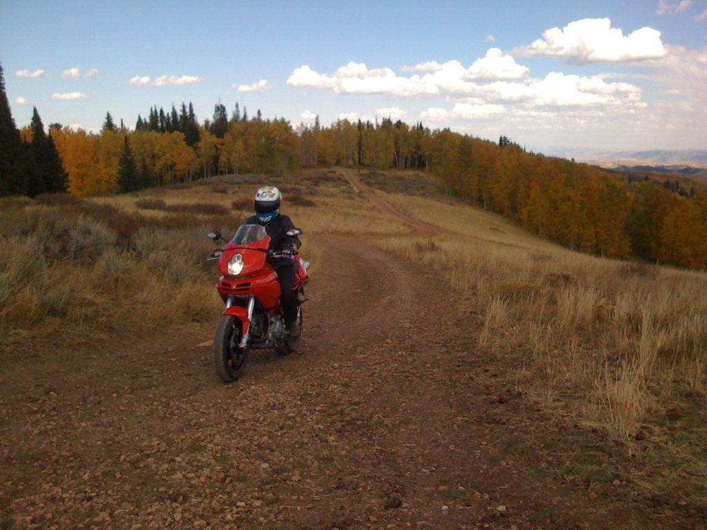 Ducati Multistrada Offroad Fall colors Tire test