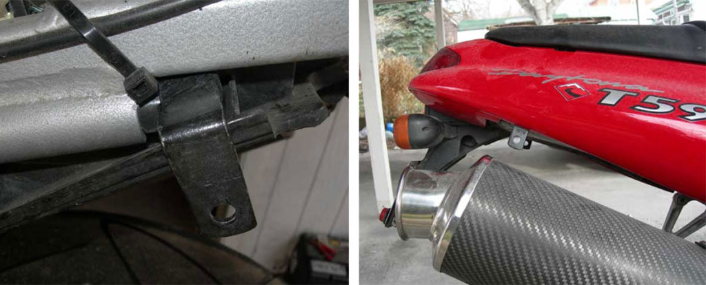 Mounting a Ventura Motorcycle Luggage Rack System on a Triumph Daytona