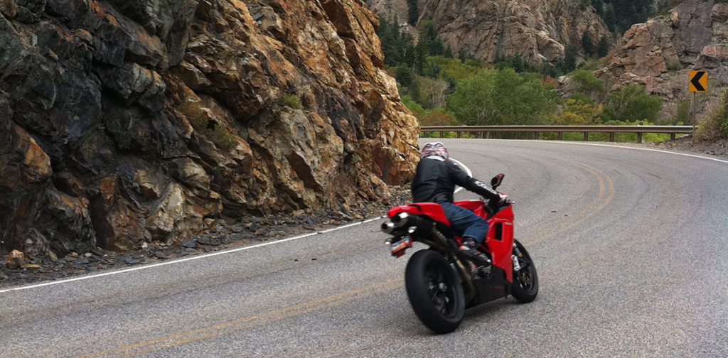 Ducati 848 Big Cottonwood Canyon