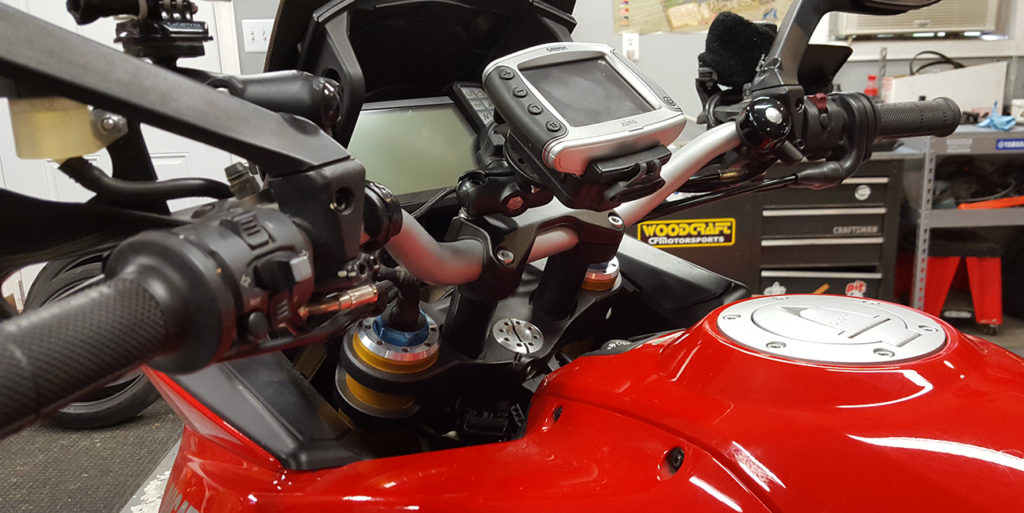 how to install a motorcycle ram mount for gps, phone, camera