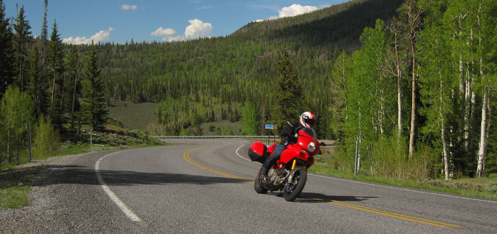 Ducati Multistrada 1100 Riding through a corner