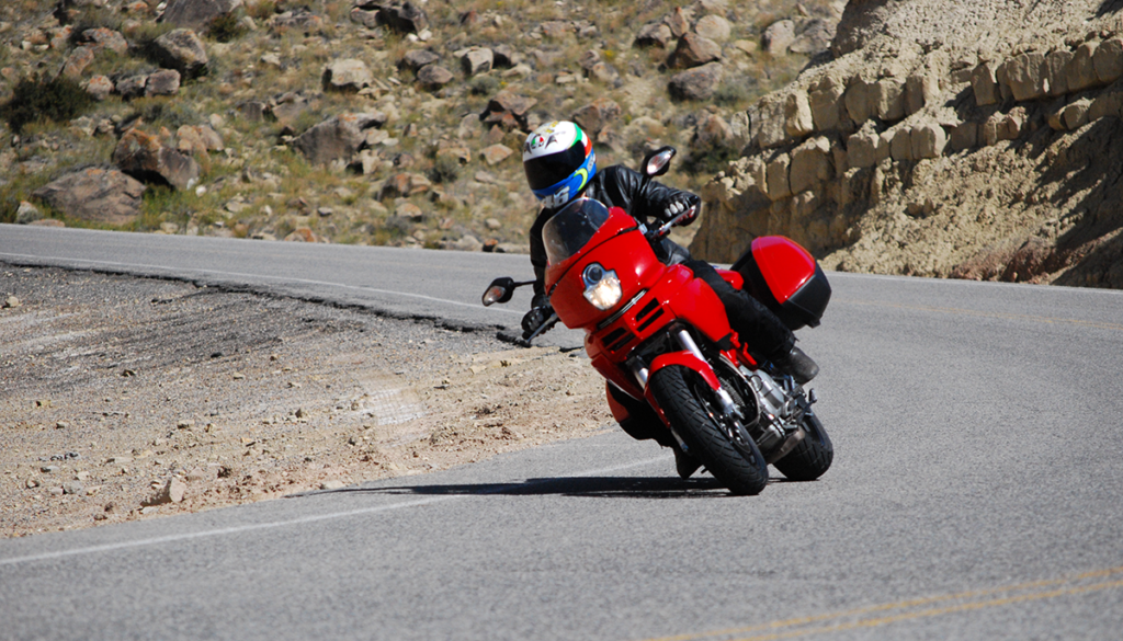 Ducati Multistrada 1000DS in a corner