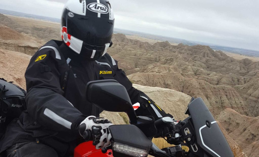 Klim Badlands Motorcycle Coat ridden in the Badlands of South Dakota