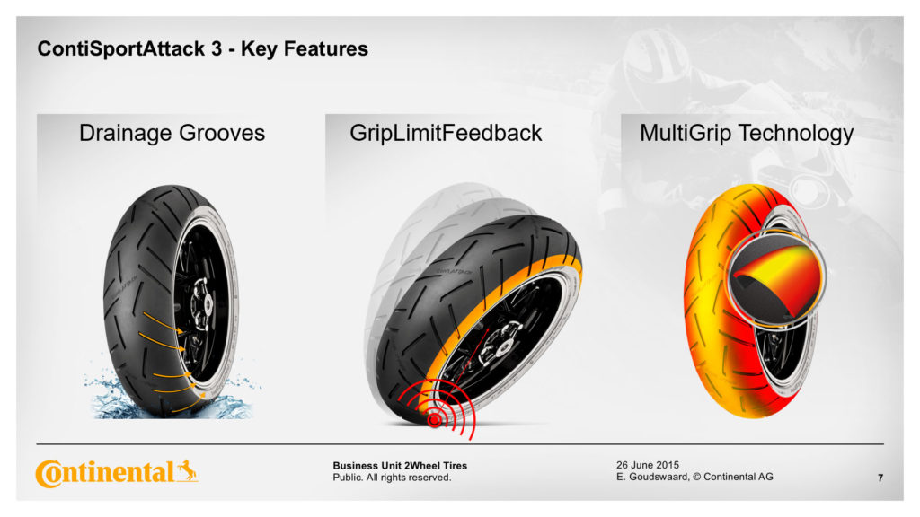 Continental Sport Attack 3 Key Features